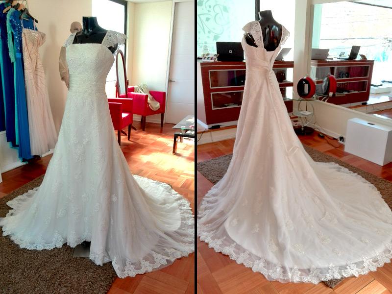 vestido de novia con tirantes de encaje | vestidos de novia - la