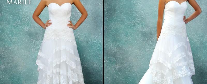 Vestido de Novia en Capas - La Boutique de la Mariée
