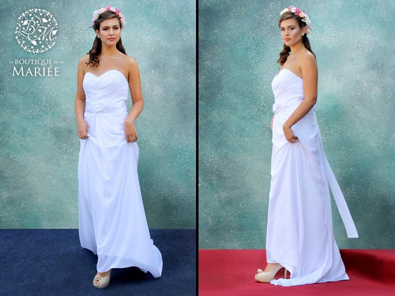Vestido ligero strapless - La Boutique de la Mariée