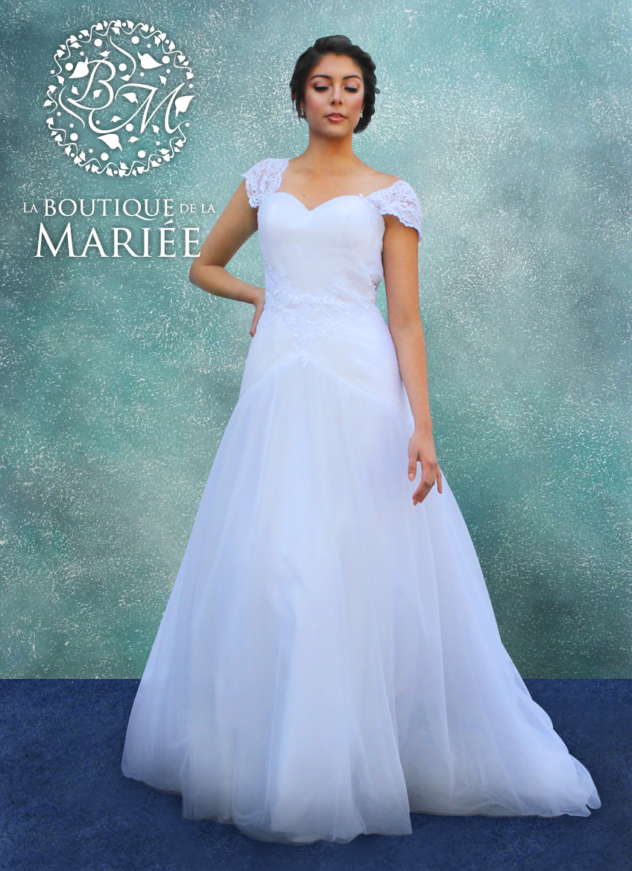Vestido de Novia Corte A - La Boutique de la Mariée | Vestidos de ...