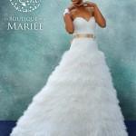 Vestido con faldón de plumas - La Boutique de la Mariée