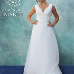 Vestido de Novia escote en V - La Boutique de la Mariée