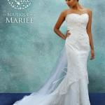 Vestido de Novia strapless y bordados - La Boutique de la Mariée