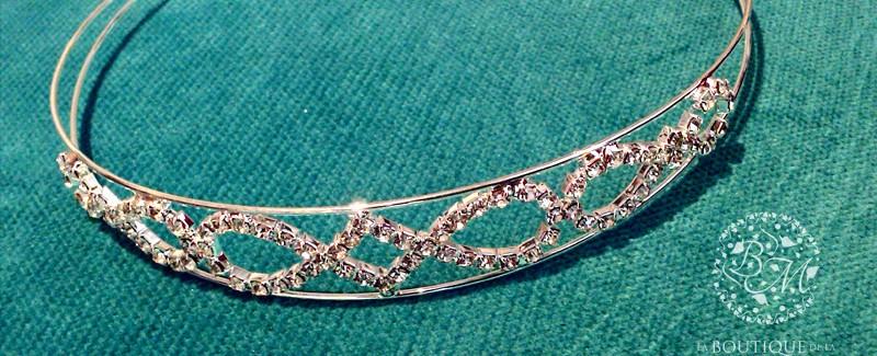 tiara con strass