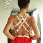 Vestido Asimétrico sin Espalda - La Boutique de la Mariée
